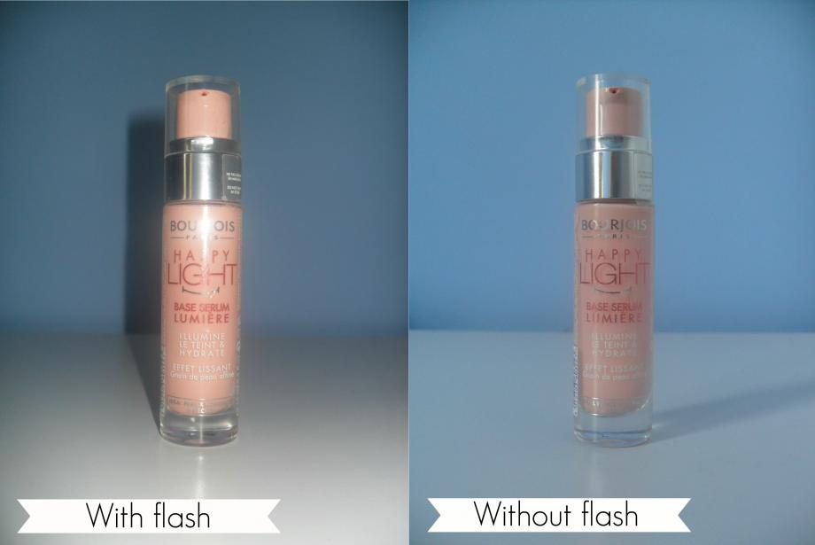 The flash can cause bright, reflective patches on close items, and cast big shadows in your image