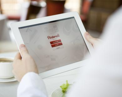 Pinterest app on iPad