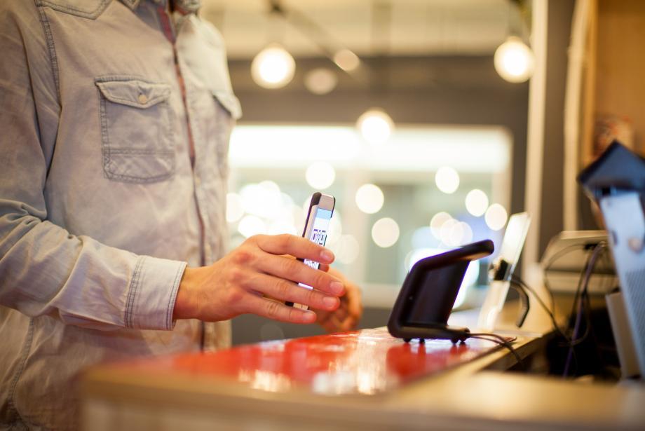 Spending QR code on phone