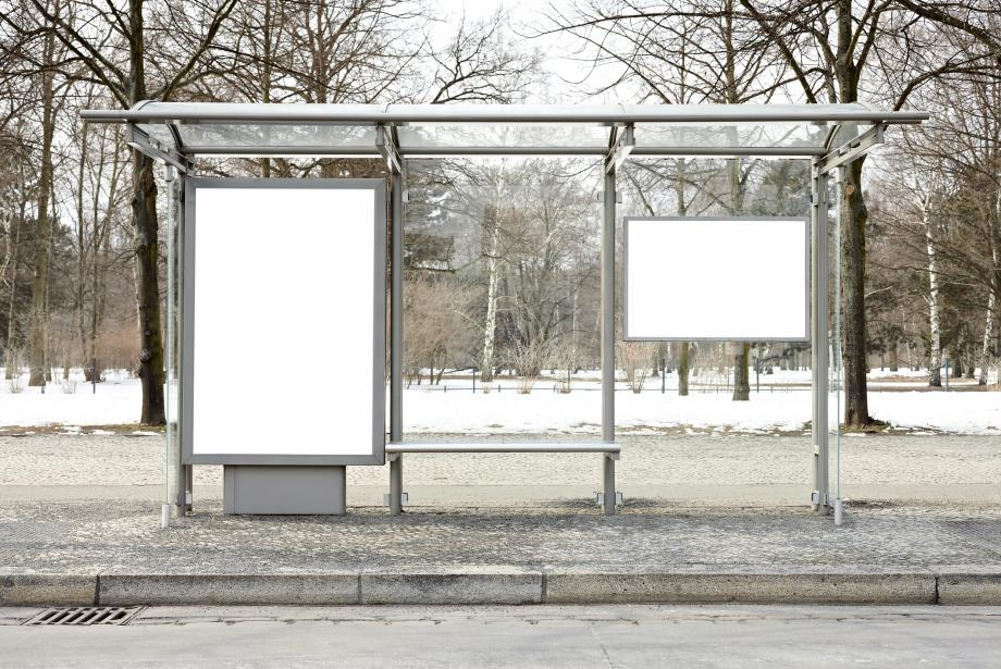 Empty billboard spaces