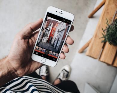VSCO app on phone