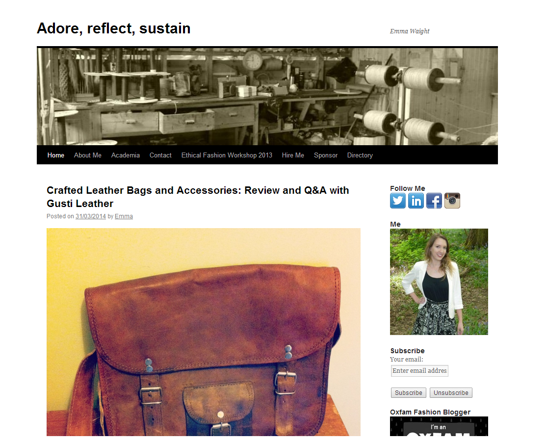 Adore Reflect Sustain blog screen grab