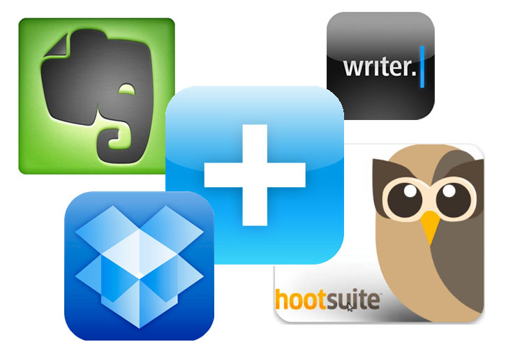 blogging apps collage