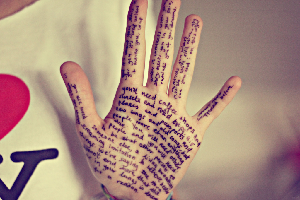 Hand writing image by Bethan