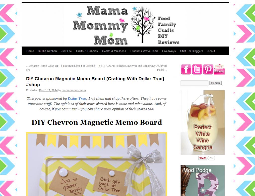 Mama Mommy Mom homepage screen grab
