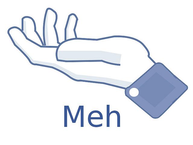 Meh Facebook hand