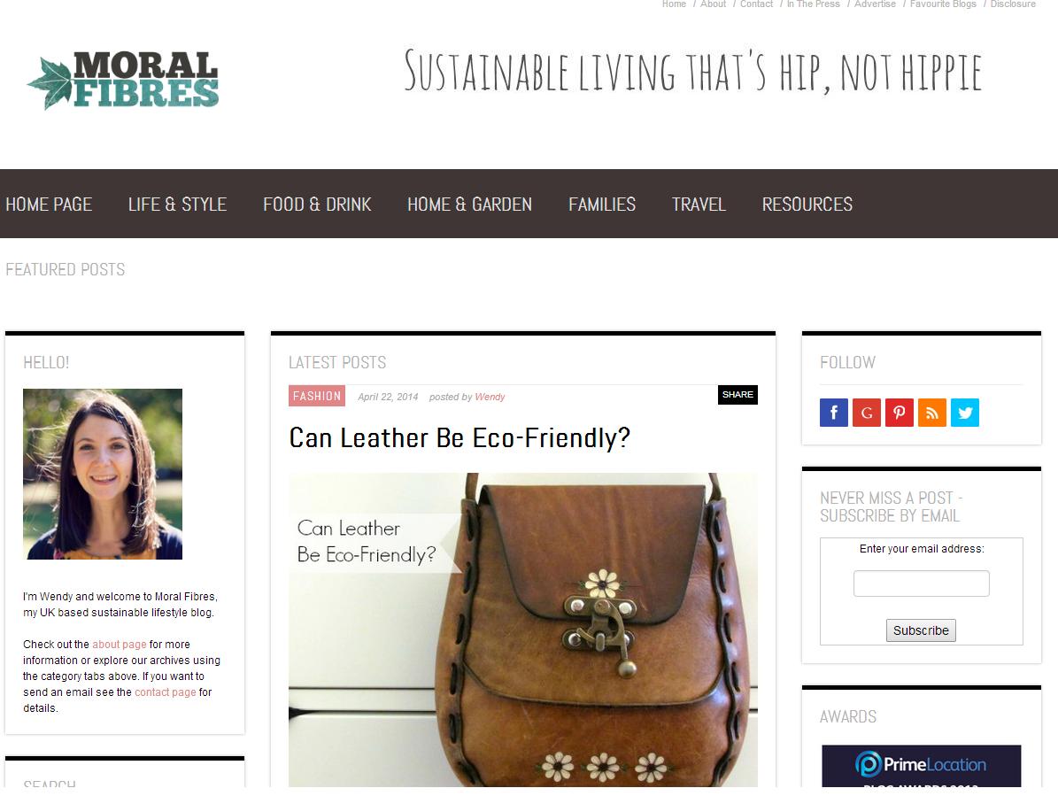 Moral Fibres blog screen grab
