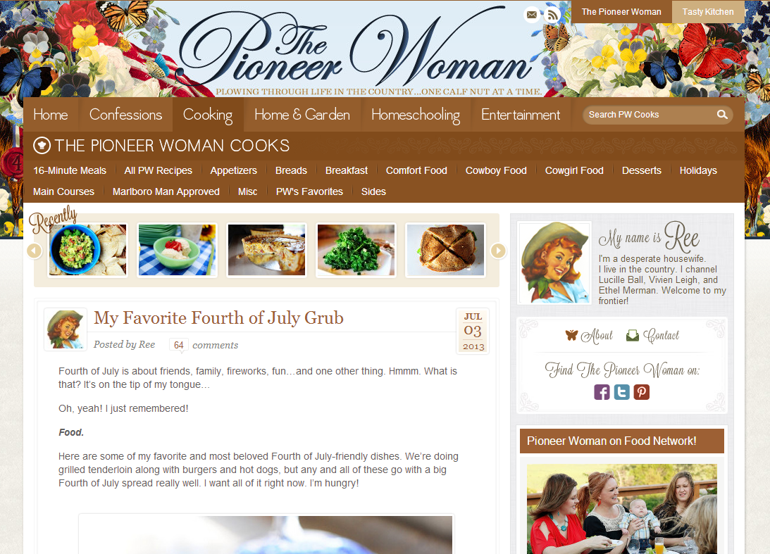 The Pioneer Woman screen grab